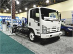 This 14,500-lb. Isuzu NPR HD gas truck has been converted with an