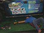 One of the events in the exhibit hall was a live CNG vehicle