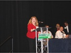 Heavy Duty Trucking s Editor Deborah Lockridge moderated a panel on