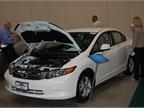 Honda had its Civic Natural Gas sedan at the show. Photo by Greg