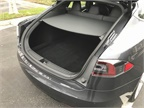 The Model S has a rear cargo volume of 26.3 cubic feet, which can