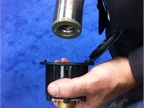 This  stab on  nozzle for CNG dispensing from Staubli connects to