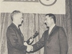 Ed presents Automotive Fleet s outstanding achievement award to Lee