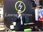 Tim Reeser, co-founder and president of Lightning Hybrids, announces a