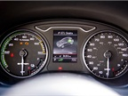 The instrument cluster includes a graphic showing power use by the