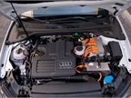 The A3 e-tron is powered by a 1.4L 150-hp gasoline engine paired with