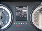 A fuel-economy readout on the instrument panel shows off the truck s