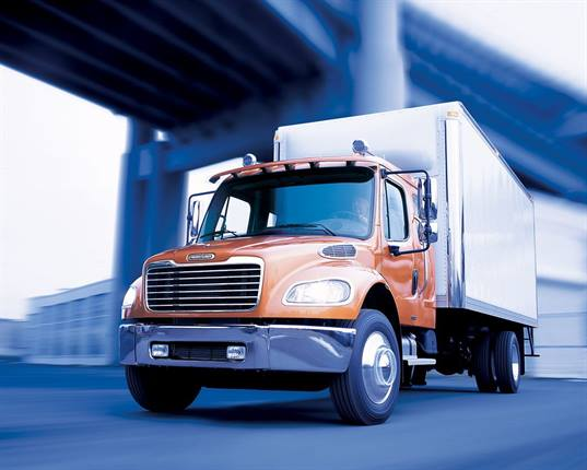 <p>The Freightliner M2 106 hybrid fits high stop-and-go applications and vocational applications. It features an Eaton parallel-electric hybrid system. </p>