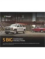 5 Big Construction Industry Trends